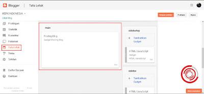 1. Langkah pertama untuk menghilangkan tanggal postingan di .blogspot Blogger silakan kalian masuk dashboard Blogger>Tata Letak>Posting Blog 'Gadget posting blog' , lalu klik edit