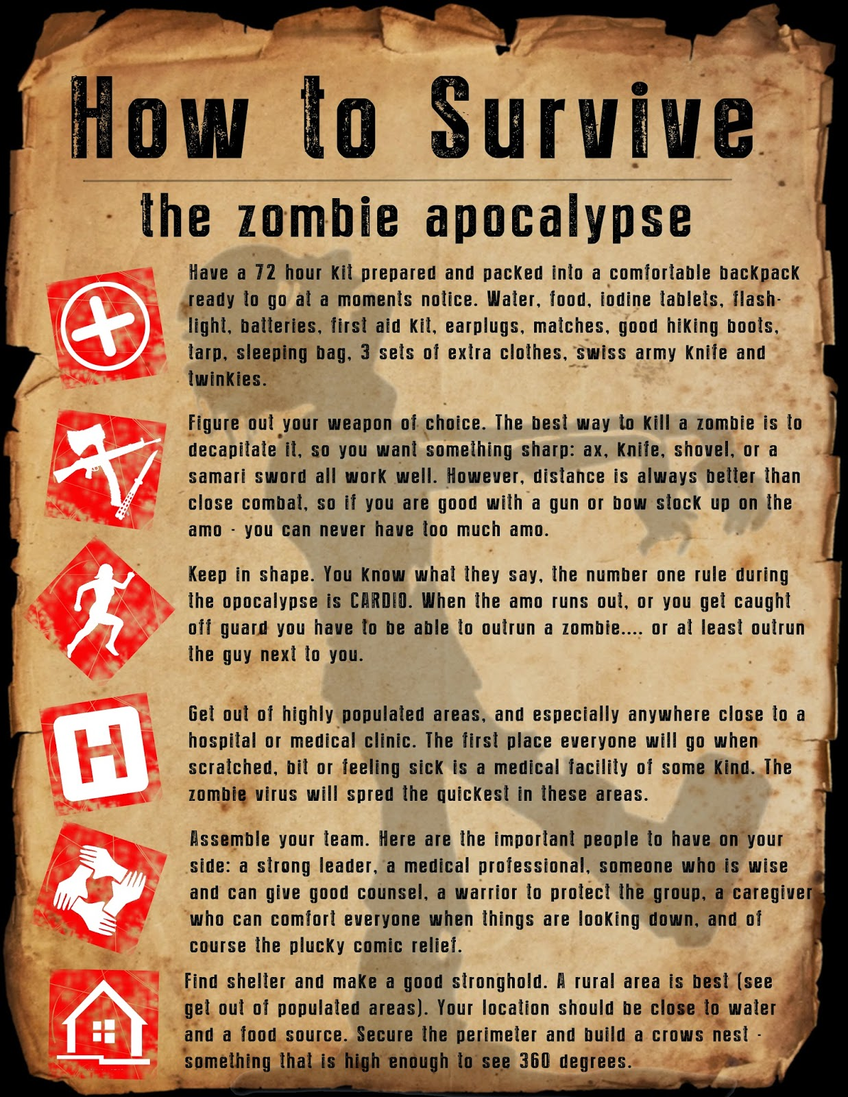 Zombie Survival Kit Labels To Print