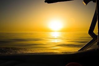 Atardecer sobre el Mar Mediterráneo, Estrecho Gibraltar