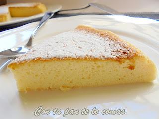Pastel de queso y chocolate blanco