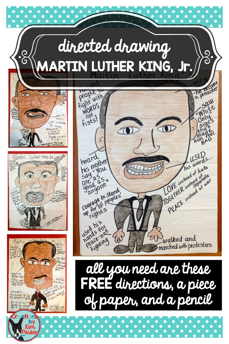 Martin Luther King Jr Sketch And Write Curriculum And Crayons