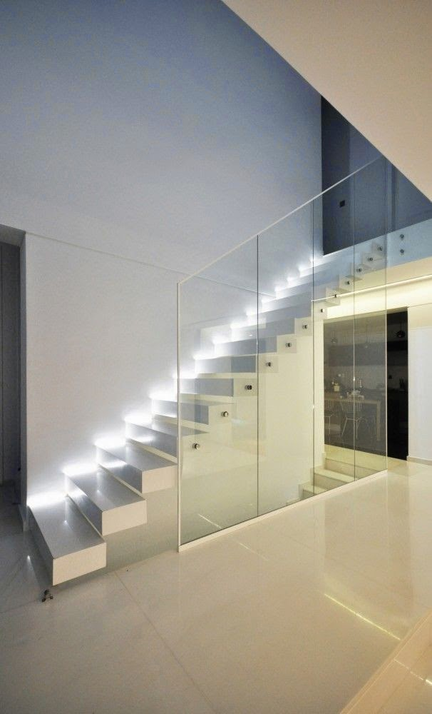 21 Staircase Lighting Design Ideas Pictures: Stair Lighting : Smart Ideas , Step Lights Tips And