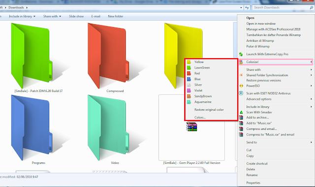 Cara Mengganti Warna Folder Dengan Folder Colorizer