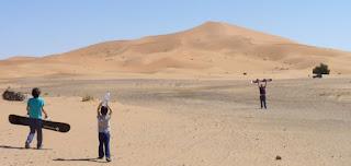 Las dunas del desierto de Erg Chebbi.