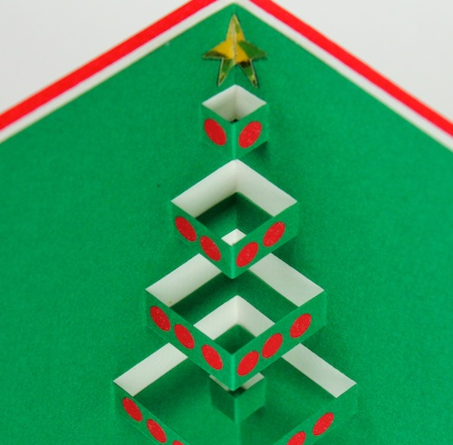 ashbee design popup christmas cards