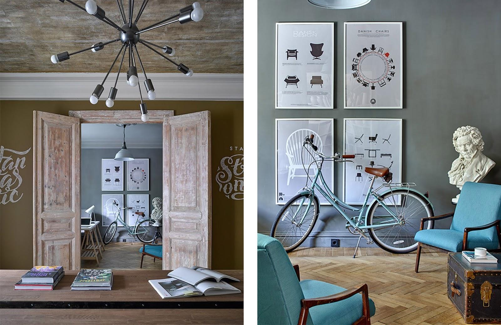 Casa ufficio con opere d 39 arte e arredi vintage by for Arredamento ufficio design