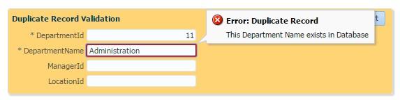 ADF Basics: Duplicate Record Validation Using Custom Java Method
