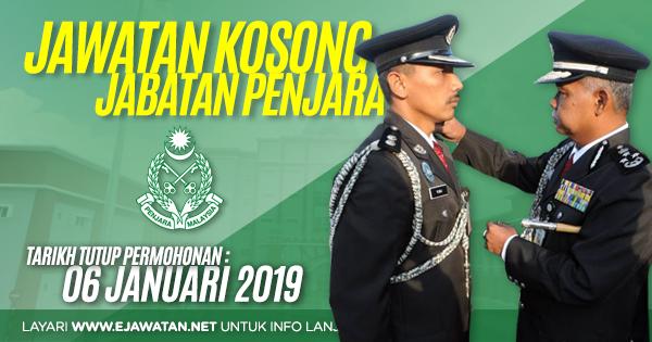 Jawatan Kosong di Jabatan Penjara Malaysia 2019