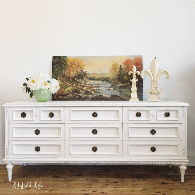 hand painted white chalk paint french style drawers Lilyfield Life
