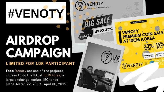 Airdrop Terbaru 2019 dari Venoty