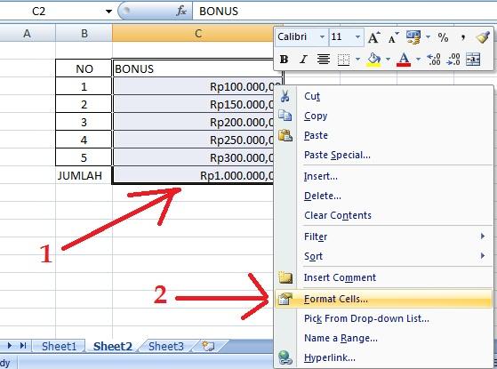 Cara Membuat Format Rupiah Rp Pada Excel Dengan Mudah Operator Sekolah
