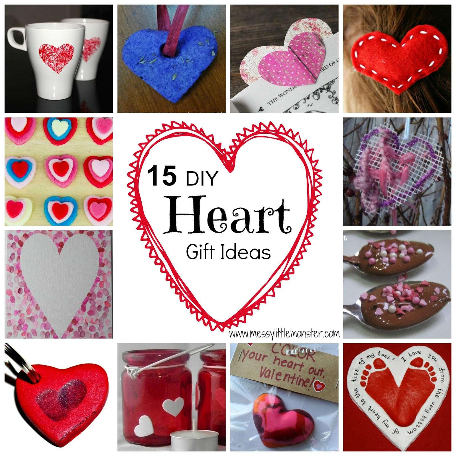 Homemade Heart Gifts - Messy Little Monster