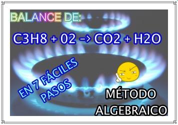 ▷ Balanceando C3H8+O2 --> CO2 +H2O  ✅ By MÉTODO ALGEBRAICO