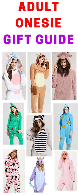 adult onesie gift guide. women onesies. animal onesies.