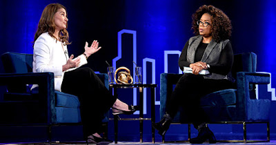 Melinda Gates and Oprah Winfrey