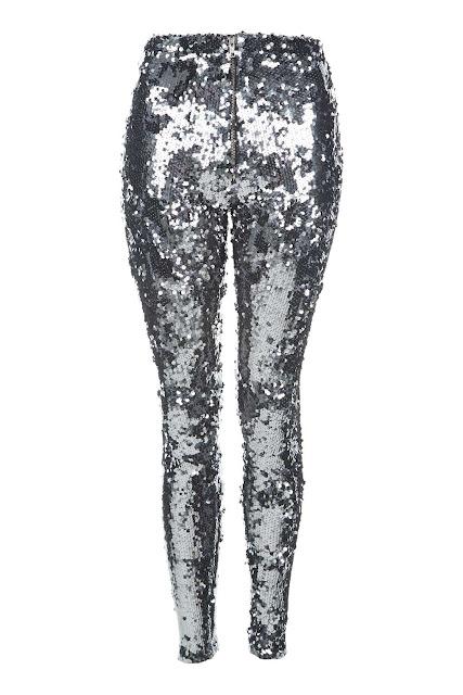 sequin trousers, sequin leggings, silver sequin leggings,