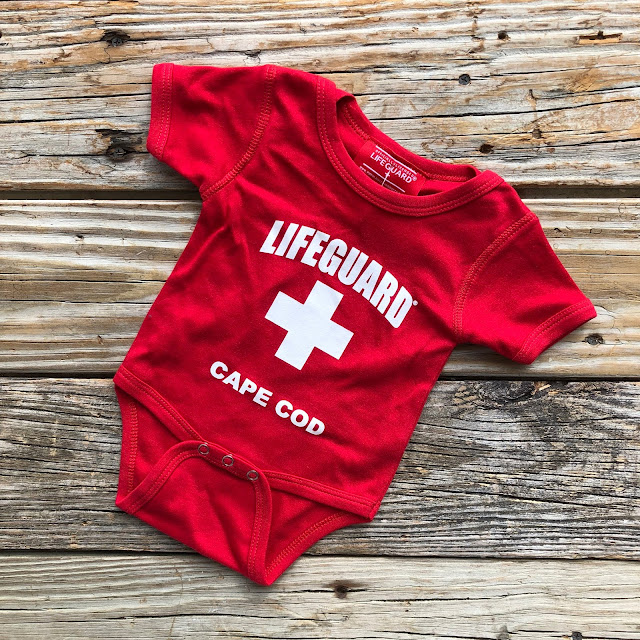 For Baby: Cape Cod Lifeguard Onesie Bodysuit