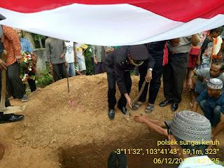 Upacara Militer Iringi Pemakaman Purnawirawan M Musa