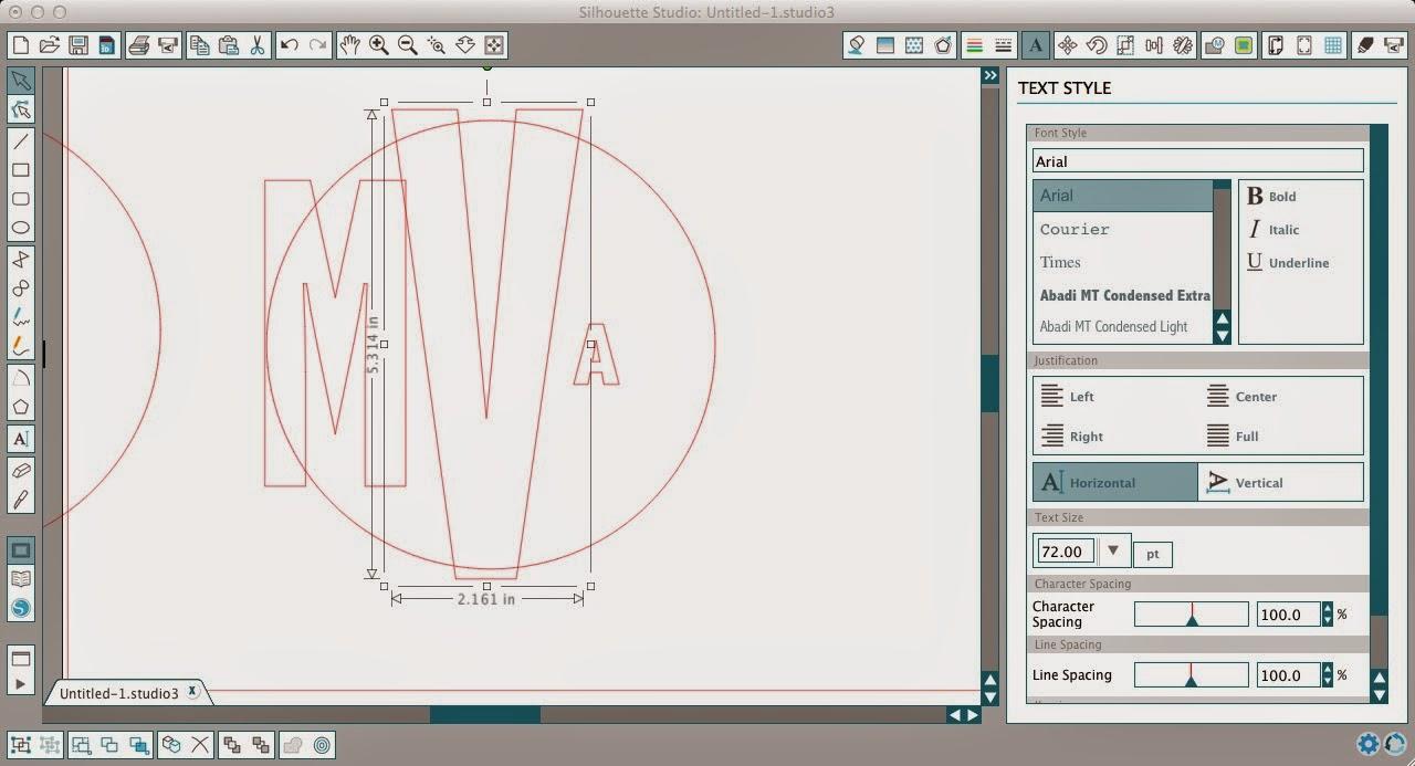 Circle monogram, Silhouette, Silhouette tutorial, Silhouette Studio
