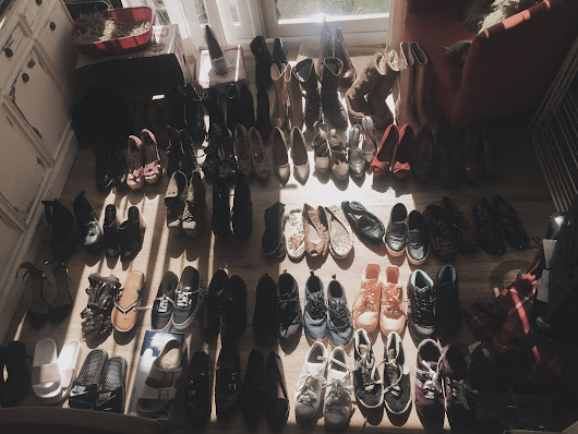 Decluttering shoes
