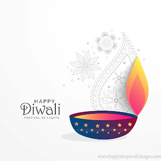 happy diwali diya image rangoli