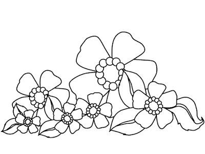Gambar Mewarnai Bunga - 18