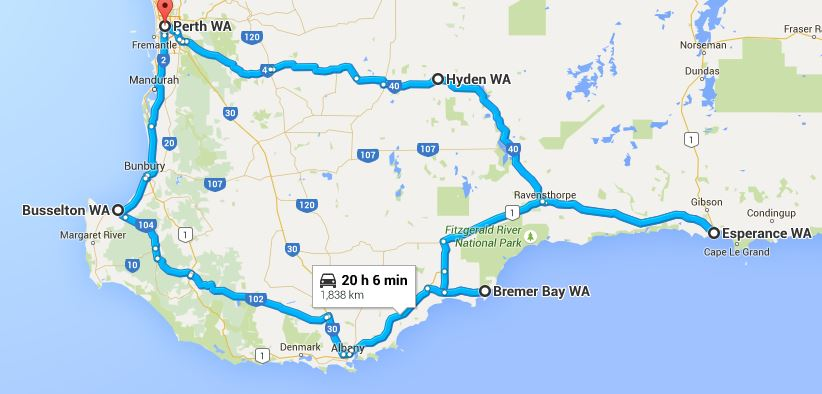 Best south western australia roadtrip route