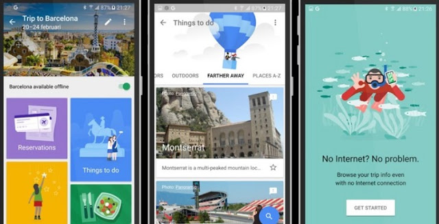 Google's Travel App : Google Trips App's Leaked Screenshots : Shown Off