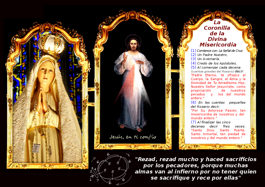 virgen de fatima y jesus divina misericordia