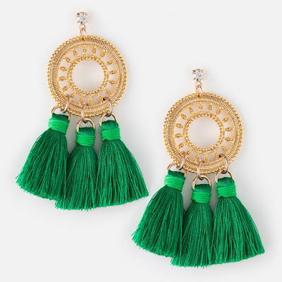 Orelia London - Green Statement Tassel Earrings - Jewellery Blog - Jewellery Curated