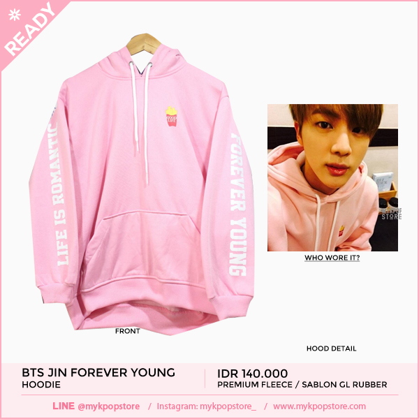 BTS Jin Forever Young Hoodie