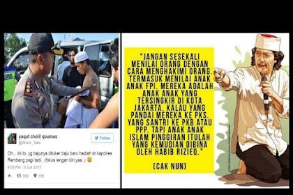 Cak Nun: Jangan Hakimi FPI, Anak-anak Islam Pinggiran yang Tersingkir Itulah yang Kemudian Dibina Habib Rizieq