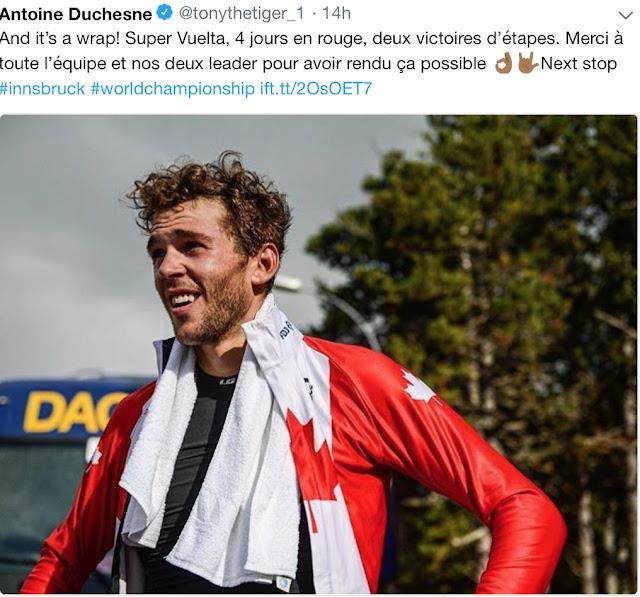 2dad64a4dd8 Stage 21  1. Elia Viviani 2 21 28 2. Peter Sagan 3. Giacomo Nizzolo 127.  Michael Woods 152. Antoine Duchesne 1 30