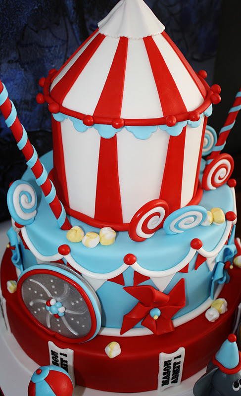 Sandy S Cakes Roll Up Roll Up Its A Circus Cake For Mason