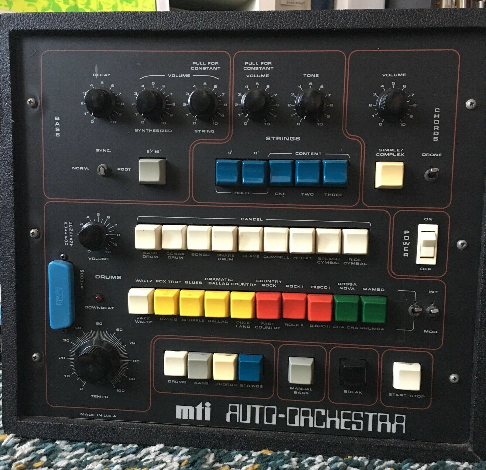 matrixsynth mti auto orchestra vintage drum machine bass synthesizer electronic instrument. Black Bedroom Furniture Sets. Home Design Ideas