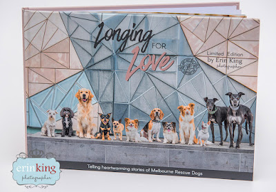 Longing for Love book cover Erin Photographer stories of Melbourne rescue dogs
