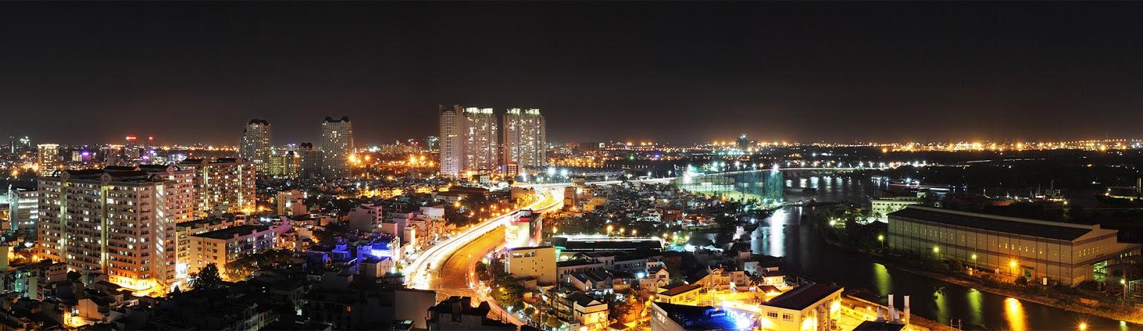 view đẹp thành phố tại căn hộ penthouse - city garden