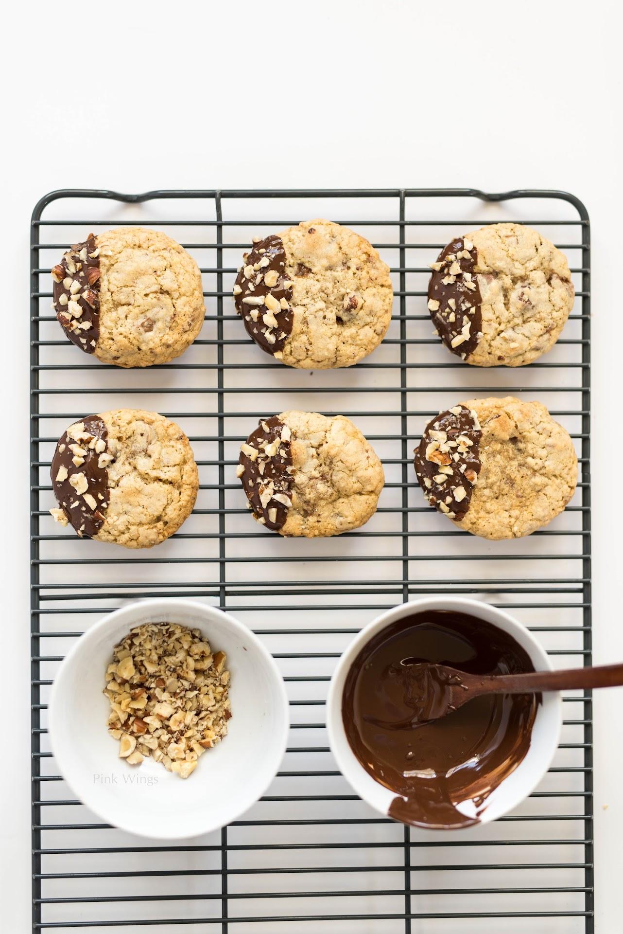 dipped cookies, dark chocolate, ritter, hazelnut dessert, toffee