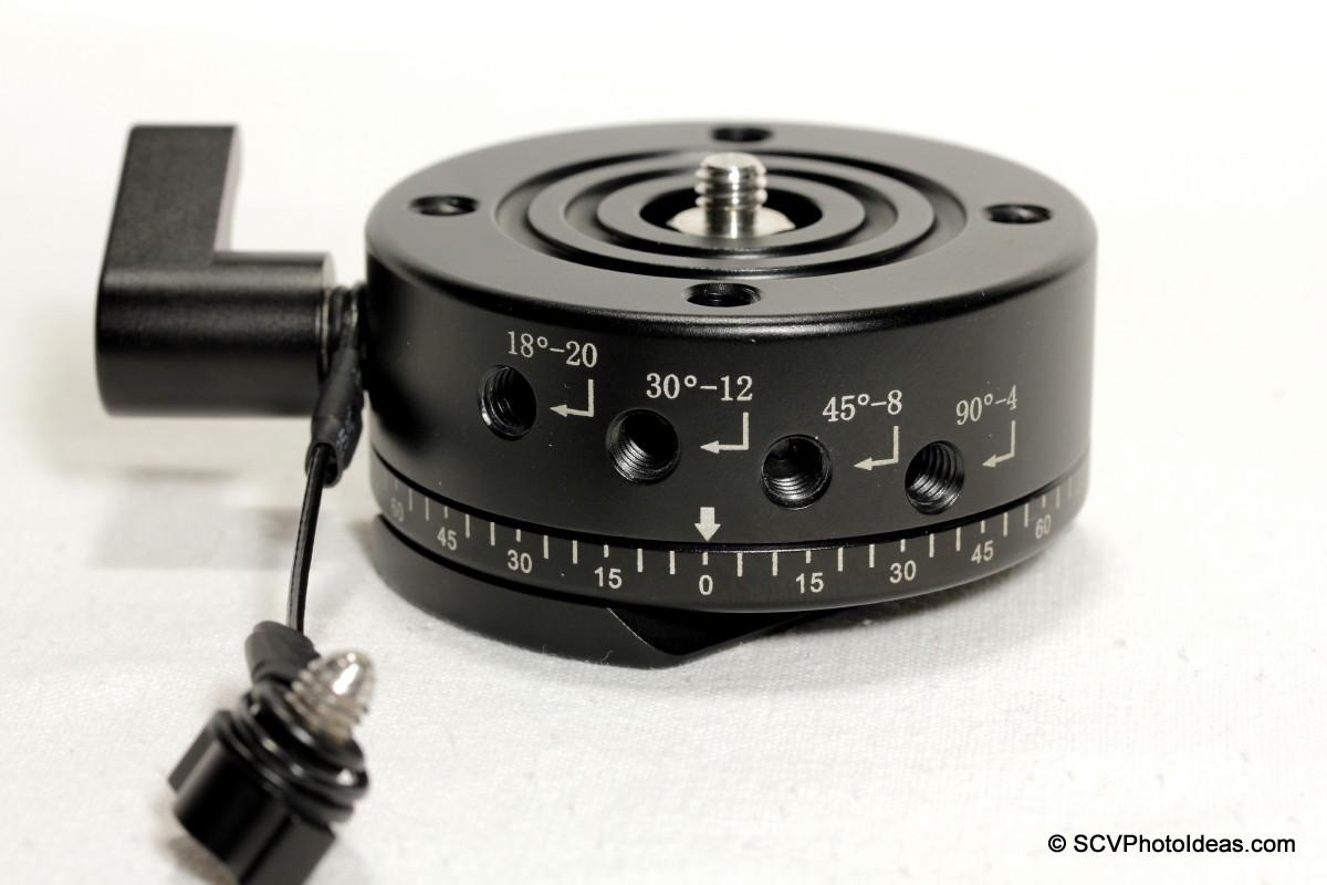 Sunwayfoto DDP-64SX Detent interval control knob removed