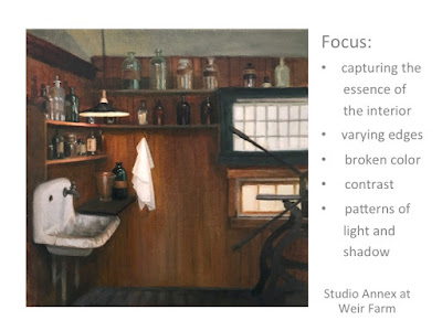 essence of painting an interior, patterns of light and shadow