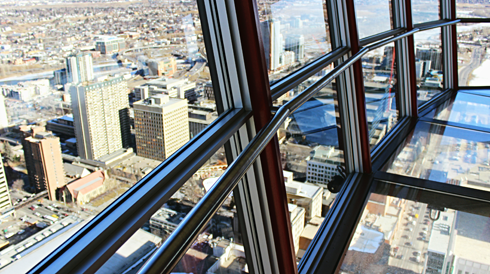 calgary tower alberta observation deck
