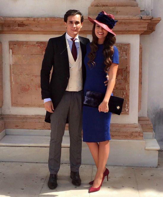 2254f4a46 azul-negro vestido azul marino para boda ...