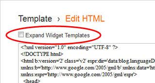 Expand Widget Templates