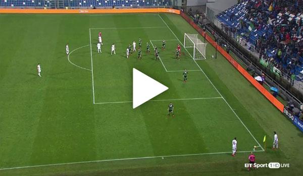 Video Sassuolo 0 - 2 AC Milan Serie A Vòng 12