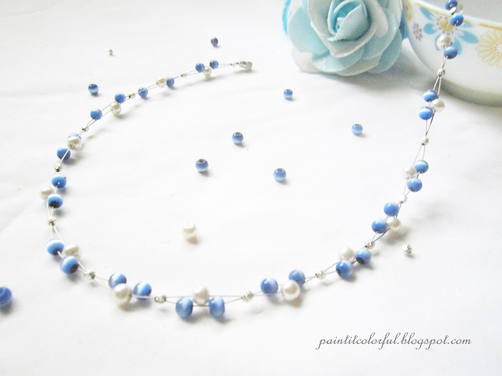 necklace beaded designs jewelry handmade jewellery beads pretty crystal elegant easy