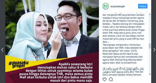 Dianggap Permainkan Hadits Nabi, Ridwan Kamil Dibully Warganet