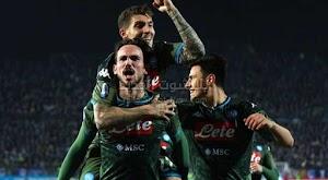 نابولي يقلب الطاولة على فريق بريشيا في الجولة 25 من الدوري الايطالي