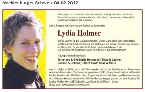 Lydia Holmer