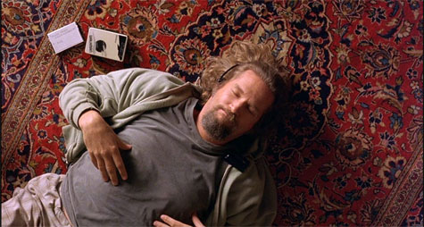 "Jeffrey Lebowski alias le ""Dude"" (Jeff Bridges) dans The Big Lebowski des Frères Coen (1998)"