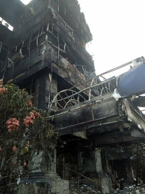 Bigest Shopping Mall In Benin Guted By Fire (Photos)